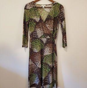 LOFT size 4 faux wrap dress size 4